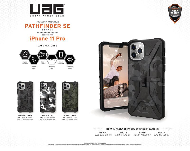 Ốp lưng iPhone 11 Pro UAG Pathfinder SE Camo