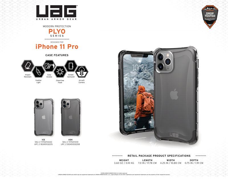 Ốp lưng iPhone 11 Pro UAG Plyo Series