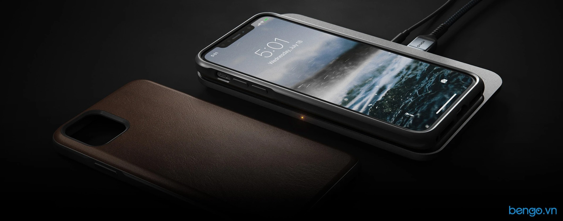 Ốp lưng iPhone 11 NOMAD Rugged Leather