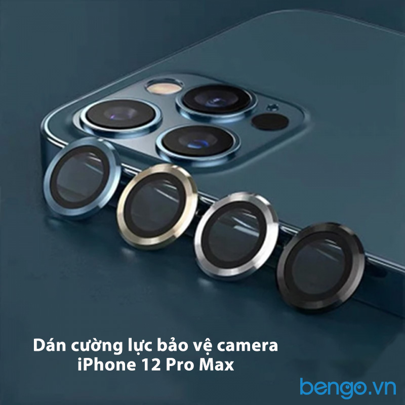 Dán cường lực bảo vệ camera iPhone 12 Pro Max Kuzoom viền màu