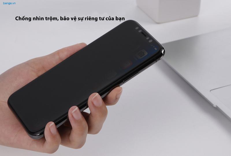 Kính cường lực iPhone Xs Max Nillkin 3D AP+ Max chống nhìn trộm