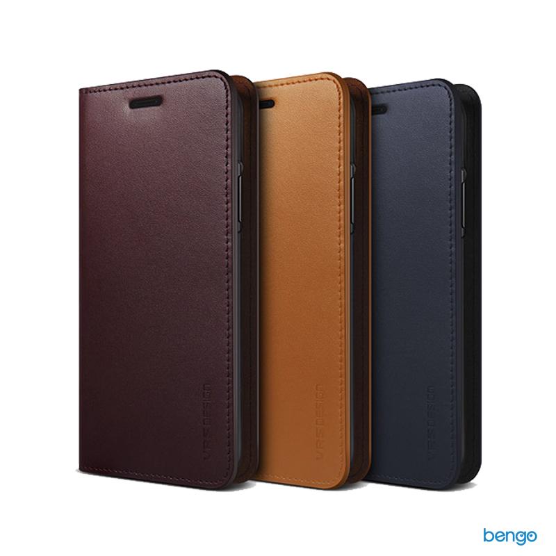 Bao da iPhone Xs Max VRS Design Genuine Leather Series