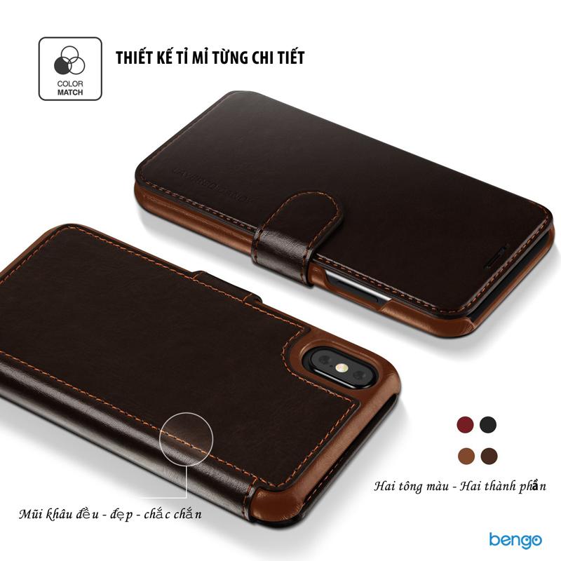 Bao da iPhone X VRS Design Layered Dandy Series
