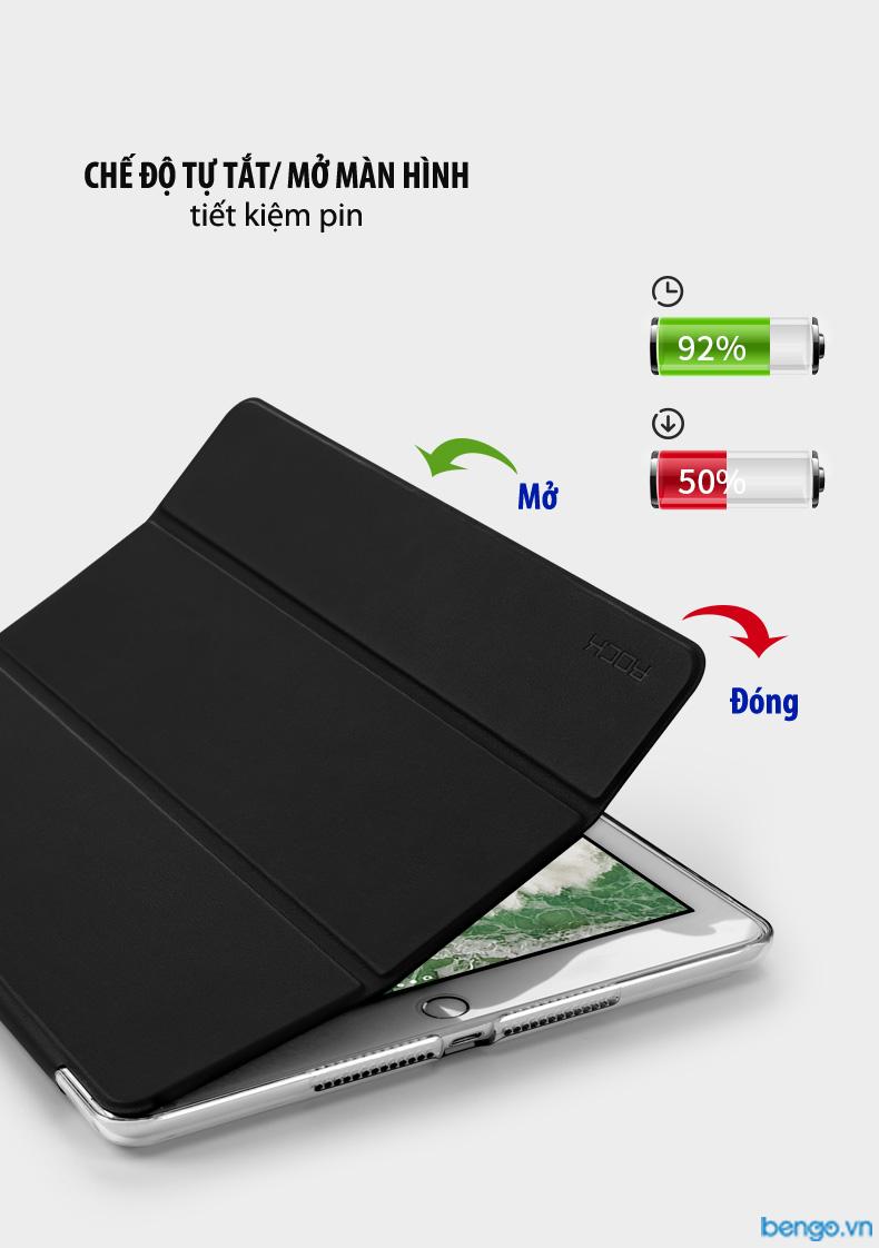 Bao da iPad 9.7 2018 ROCK họa tiết hoa văn