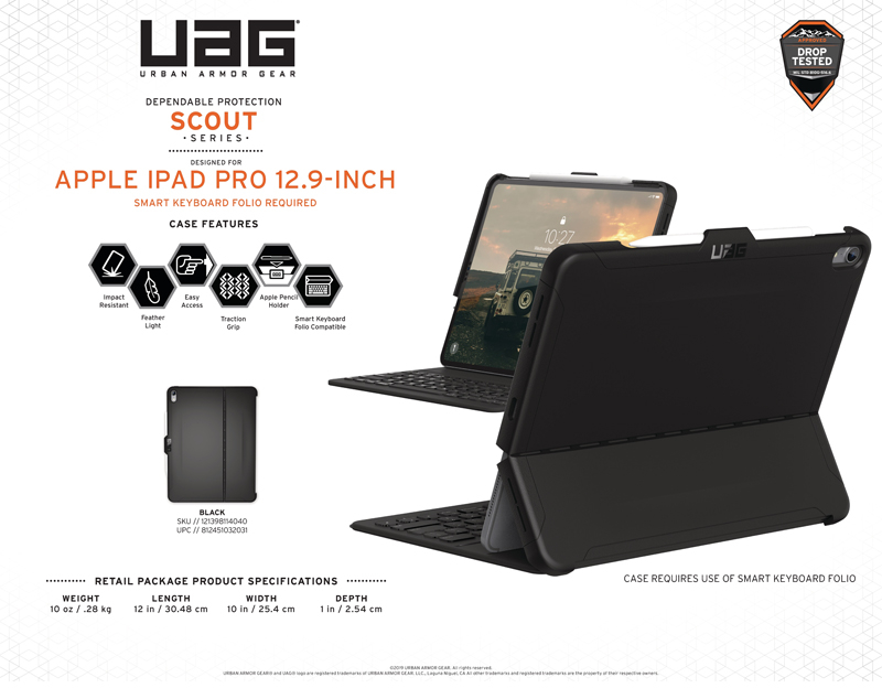 Ốp lưng iPad Pro 12.9'' 2018 (thế hệ 3) UAG Scout Series