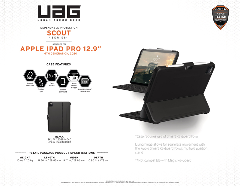 Ốp lưng iPad Pro 12.9''(4th Gen, 2020) UAG Scout Series