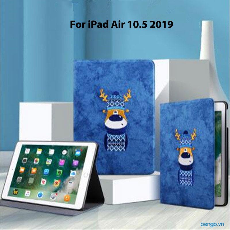 Bao da iPad Air 10.5 2019 Họa tiết Cartoon Sweater Fawn