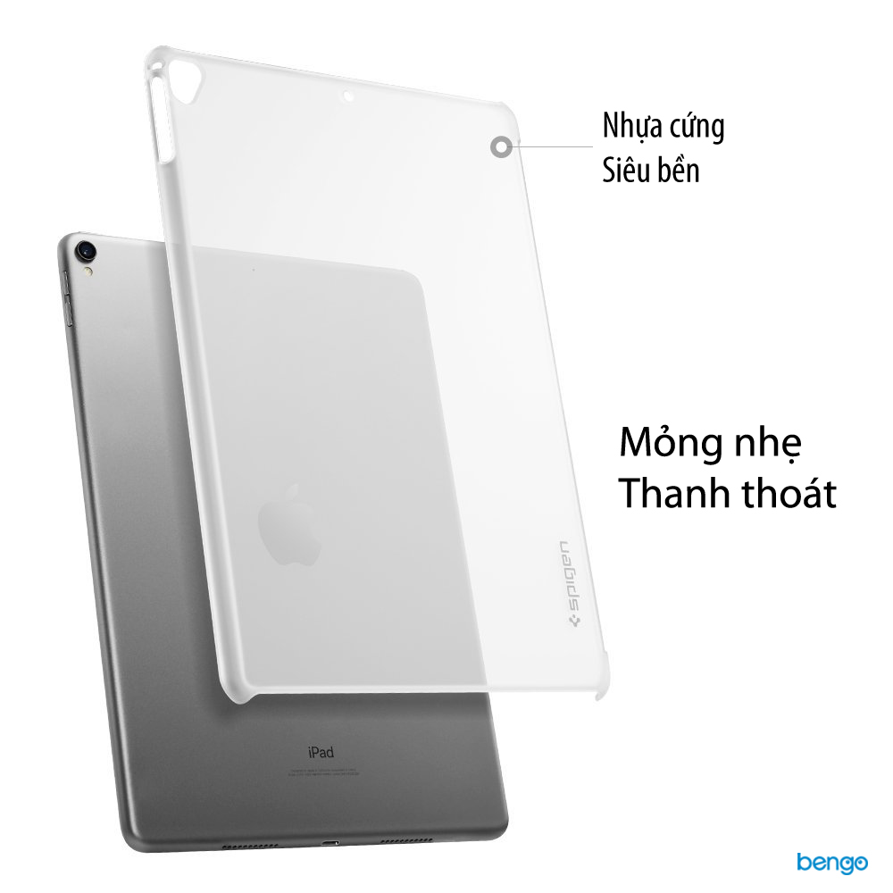 Ốp lưng iPad Pro 12.9'' (2017) Spigen Thin Fit - Soft Clear