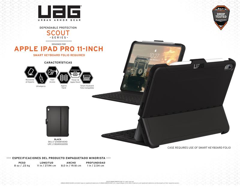 Ốp lưng iPad Pro 11 2018 UAG Scout Series