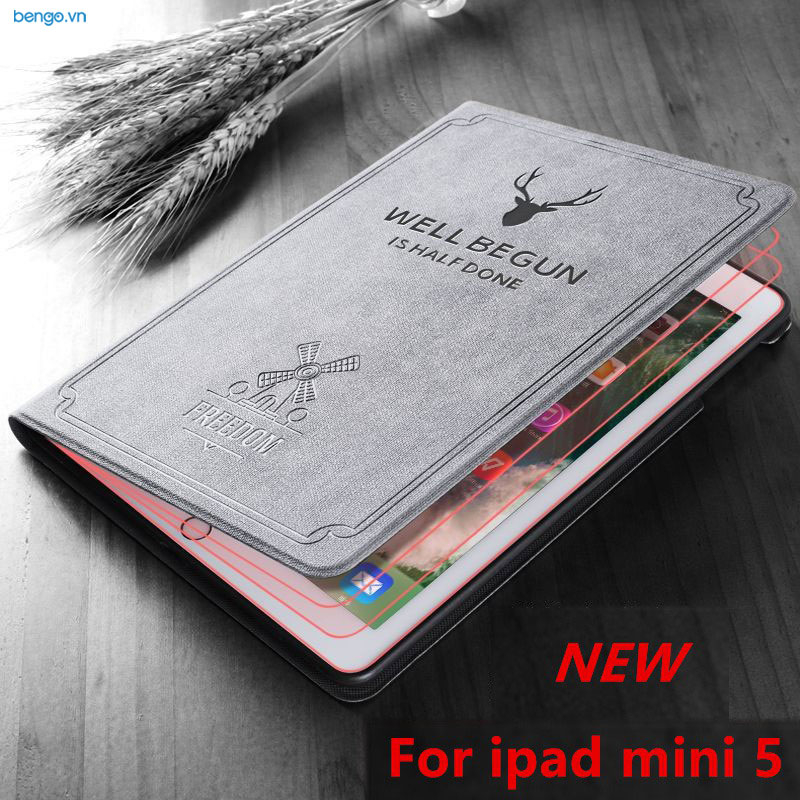 Bao da iPad Mini 5/4 Họa tiết Well Begun is Half Done