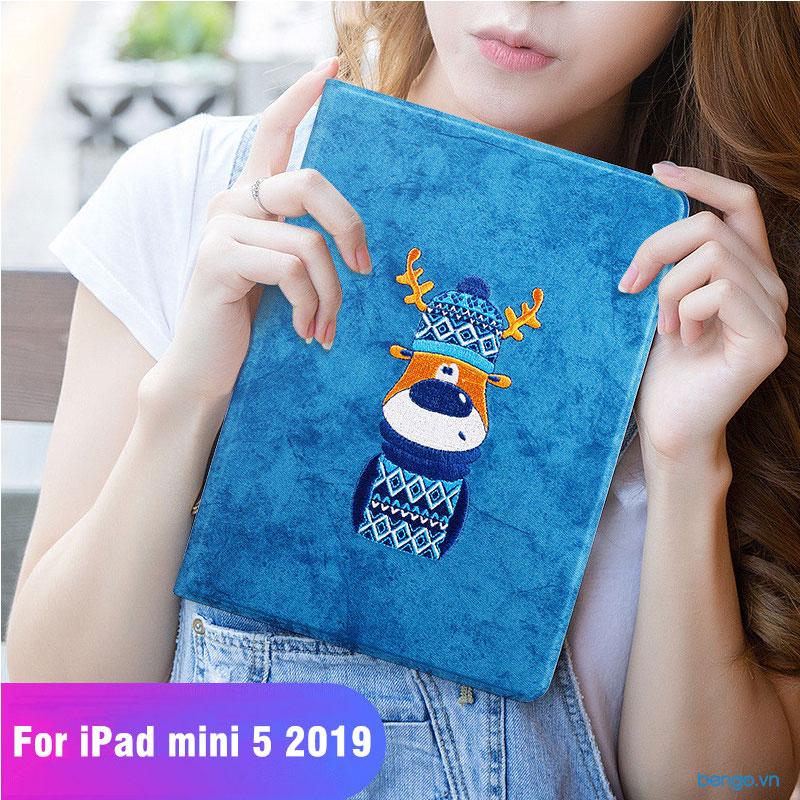 Bao da iPad Mini 5/4 Họa tiết Cartoon Sweater Fawn