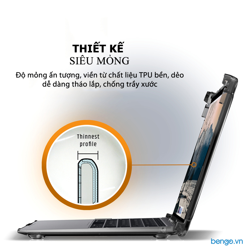 "Vỏ ốp bảo vệ Macbook Air 13"" 2018 UAG Plyo Series"