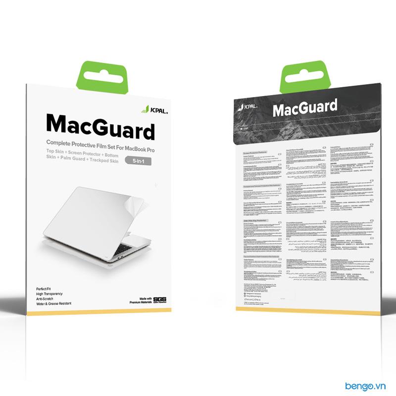 Bộ dán Full JCPAL MacGuard 5 in 1 cho Macbook Pro Retina 2015