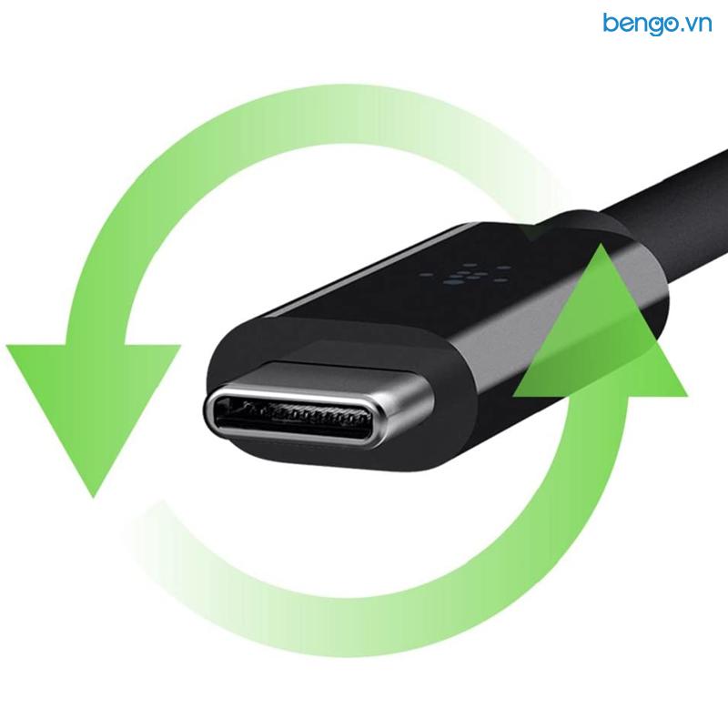 Cáp Chuyển Belkin USB-C to HDMI Adapter Hỗ Trợ 4K - F2CU038btBLK