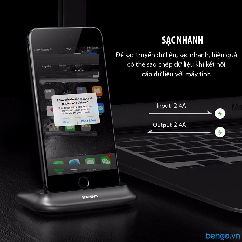 Đế sạc iPhone 7 Plus Baseus Little Volcano