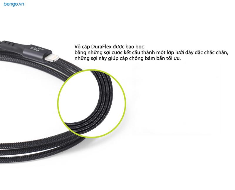 Cáp sạc INNOSTYLE Duraflex 1.5m USB-A to Lightning MFI Kevlar