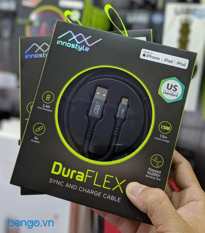 Cap-sac-INNOSTYLE-Duraflex-1-5m-USB-A-to-Lightning-MFI-IAL150