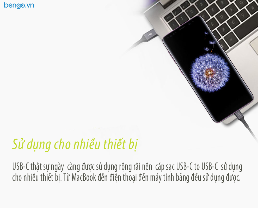 Cáp sạc INNOSTYLE Duraflex USB-C to USB-C 1.5m