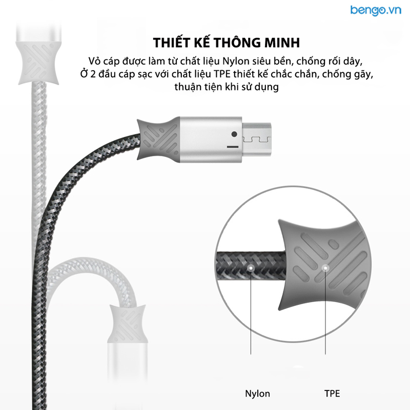 Cáp sạc Micro USB Ringke Smart Fish Charging Cable