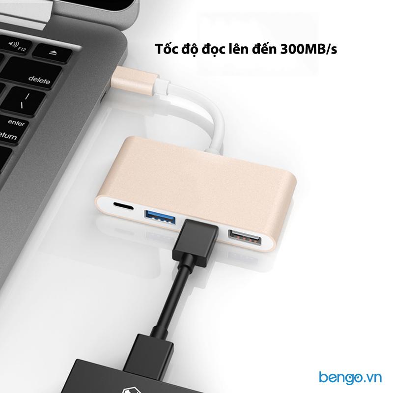 Cáp chuyển USB-C qua USB-C/USB 3.0/2 cổng USB 2.0