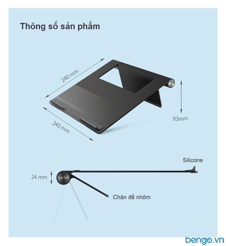 Đế dựng tản nhiệt Laptop, Tablet bằng nhôm