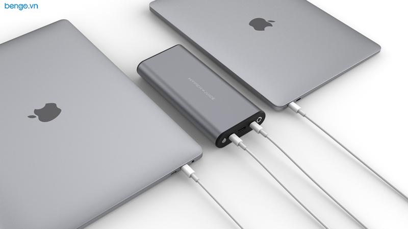 Sạc dự phòng HYPER Juice 130W USB-C+ 112W Charger Bundle cho Macbook, iPad và các thiết bị cổng USB-C