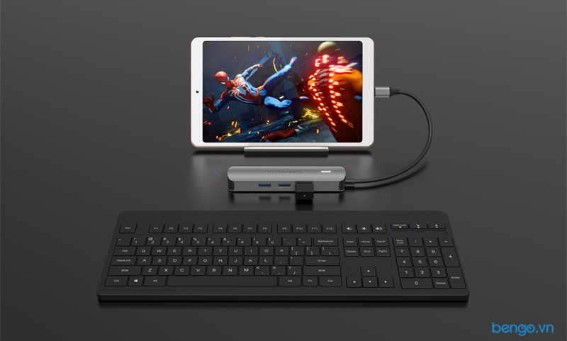 Cổng chuyển HyperDrive 4K HDMI 6-in-1 USB-C Hub for MacBook, Ultrabook, Chromebook, PC & devices