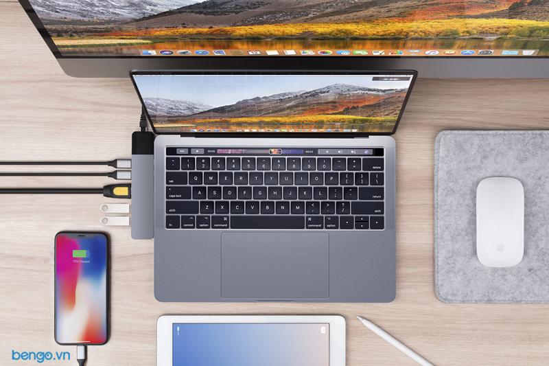 Cổng chuyển Hyperdrive NET 6 in 2 Hub for USB-C MacBook Pro 2016/2017/2018