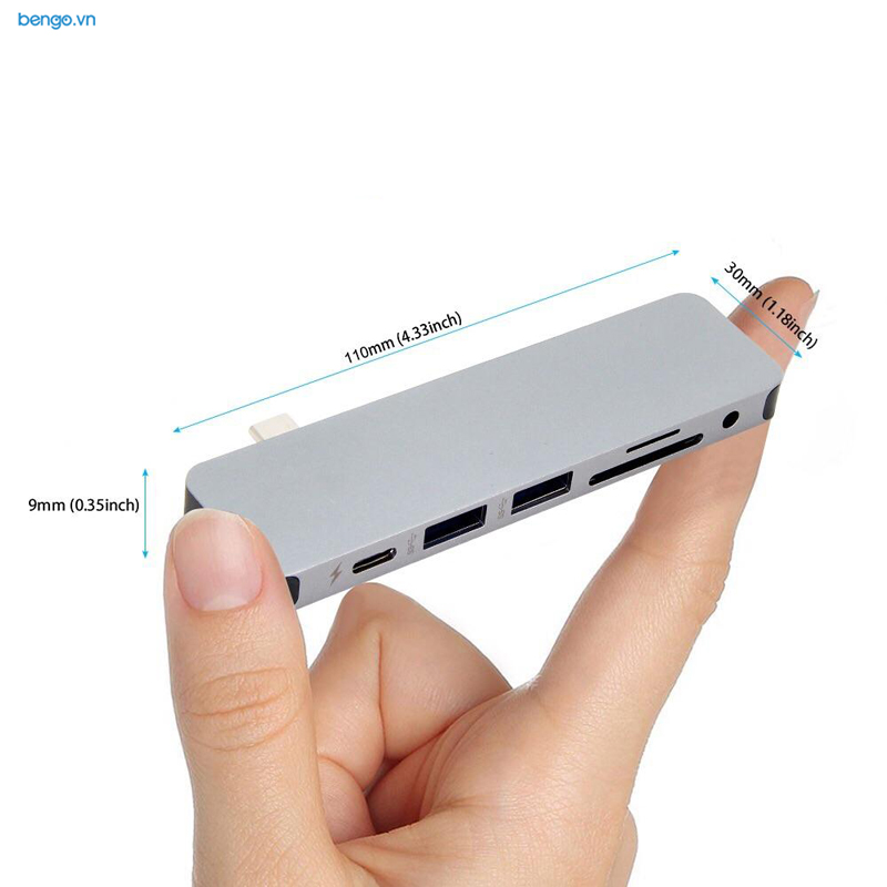 Cổng chuyển HyperDrive SOLO 7-in-1 USB-C Hub for MacBook, PC & Devices