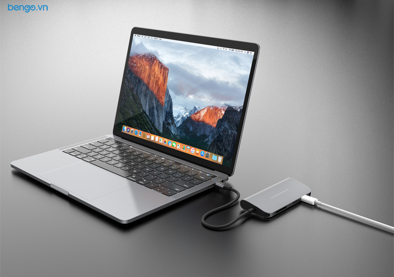 Cổng chuyển USB-C 9 in 1 Hyperdrive POWER Hub cho Macbook Pro 12'',13″,15″ 2016/2017/ iPad Pro 2018