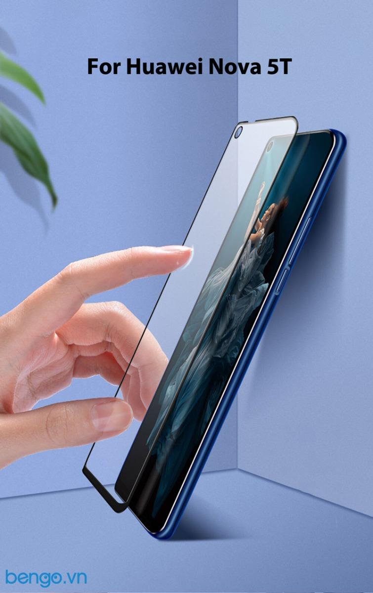 Dán cường lực Huawei Nova 5T Full keo và từ tính