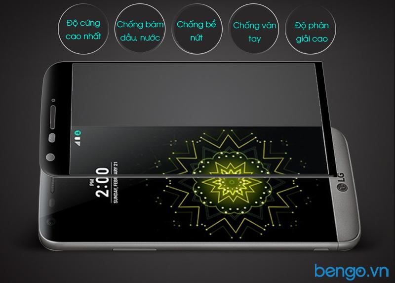 dán màn hình cường lực LG G5 Full màn hình
