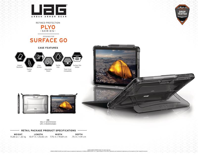 Ốp lưng Microsoft Surface Go UAG Plyo