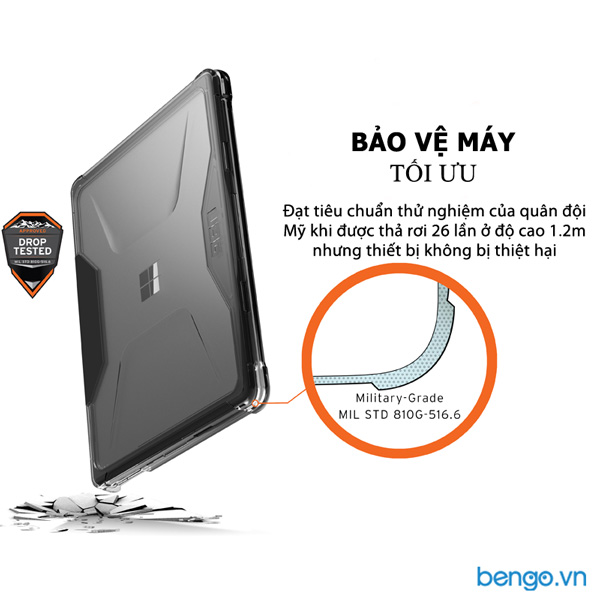 Vỏ ốp bảo vệ Microsoft Surface Laptop Go UAG Plyo Series - ICE