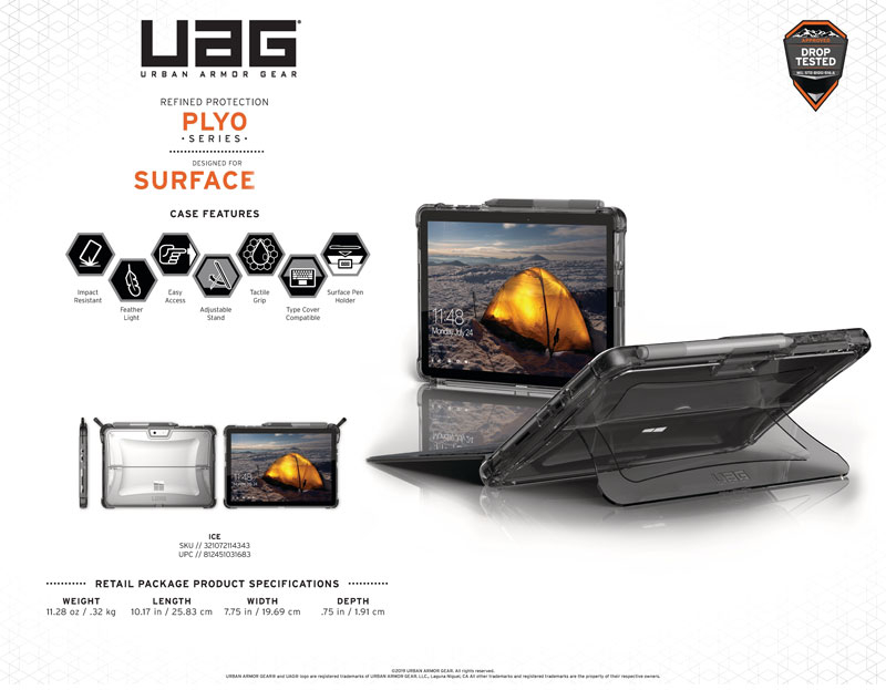 Ốp lưng Microsoft Surface Pro 6/5/4 UAG Plyo
