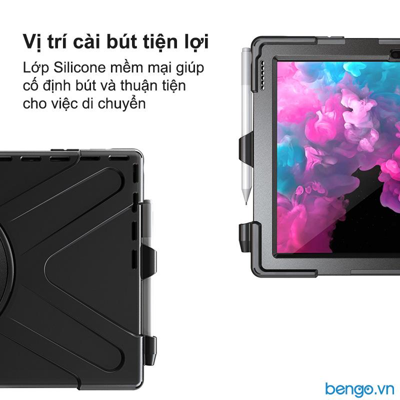 Ốp lưng Microsoft Surface Pro 7/6/5/4 chống sốc dựng máy có dây đeo vai và tay