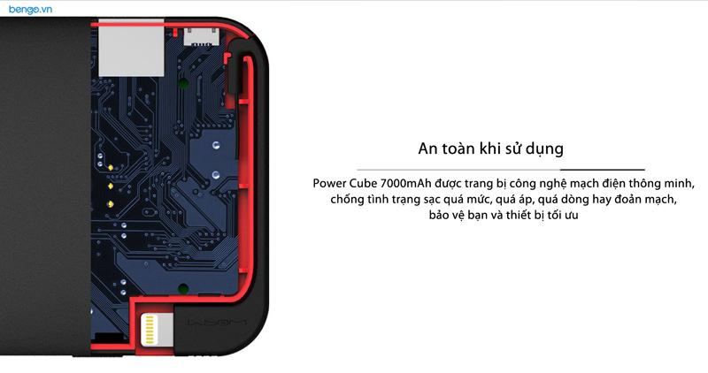 Đế sạc kiêm pin dự phòng MIPOW POWER CUBE 7000mAh Lightning Cable