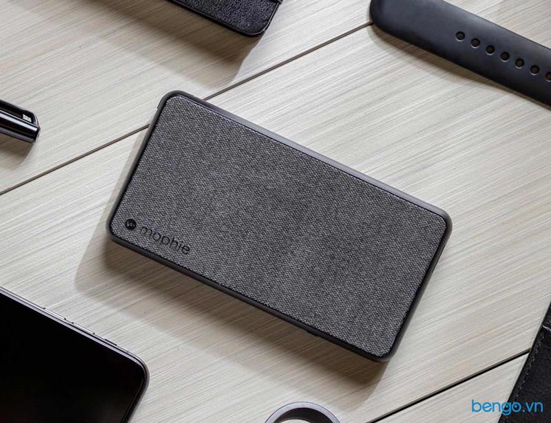 Pin sạc dự phòng 10000mAh Mophie Powerstation Plus XL Fabric Wireless Input tích hợp cáp Lightning/Micro USB - 401101678
