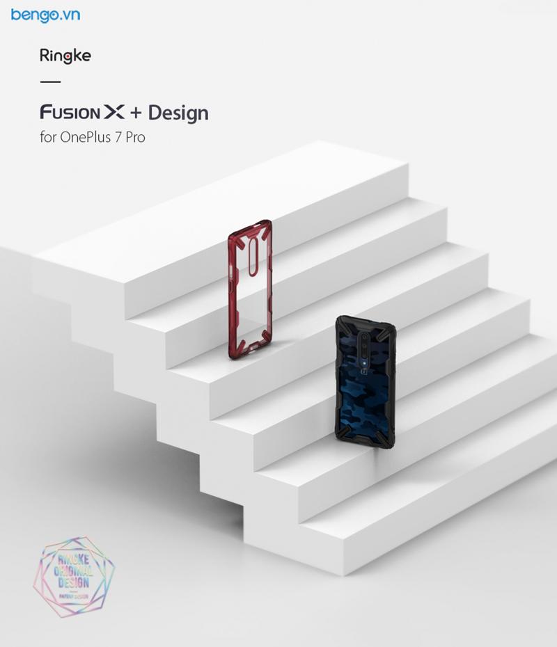 Ốp lưng OnePlus 7 Pro Ringke FUSION X DESIGN CAMO