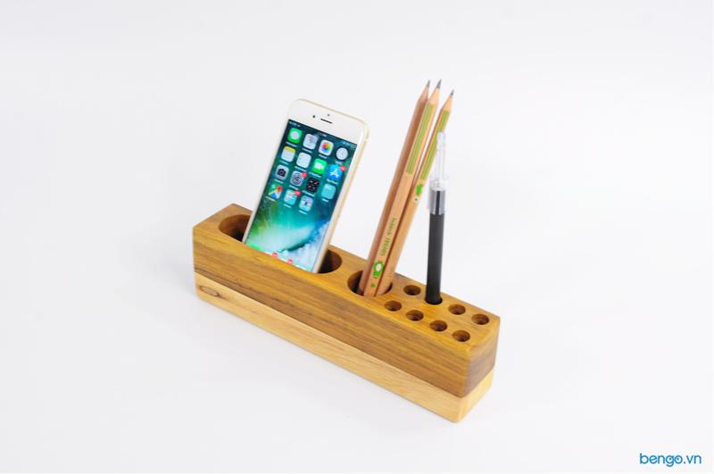 Hộp gỗ đựng bút đa năng
