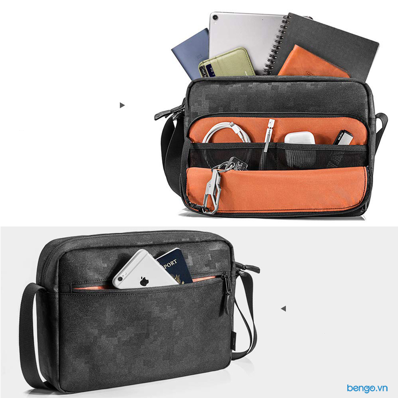 Túi đeo chéo iPad/Tablet 11 inch TOMTOC (USA) Lightwight Cross body Messenger Bag - A02-001D