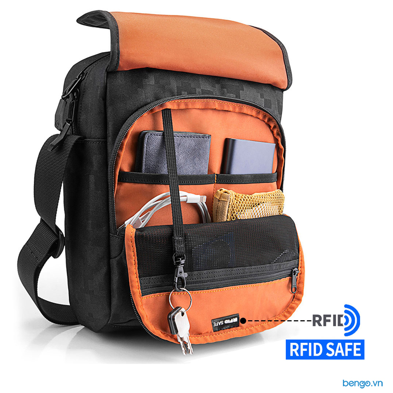 Túi đeo chéo iPad/Tablet 11 inch TOMTOC (USA) Cross body Shoulder Bag - A02-002D