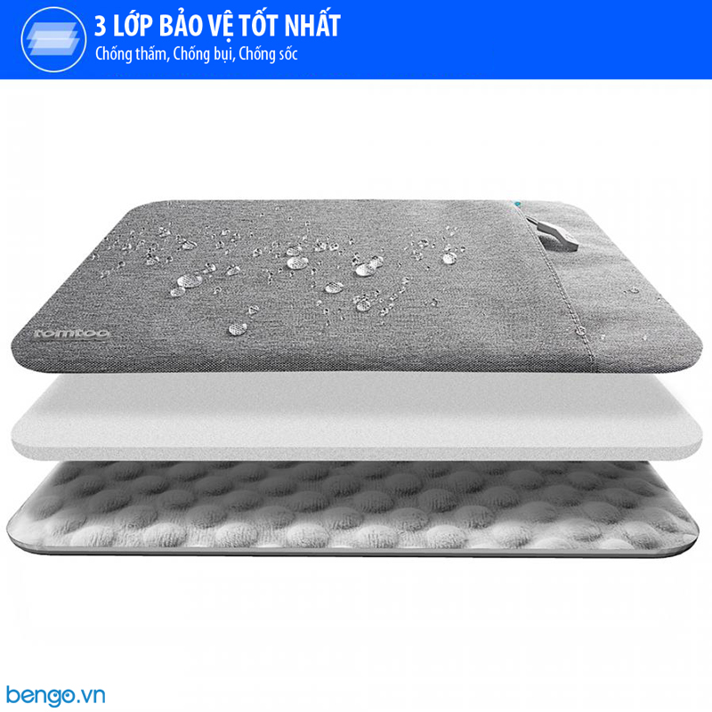 """Túi chống sốc MacBook Pro 13"""" New TOMTOC (USA) 360° Protective - A13-C02"""