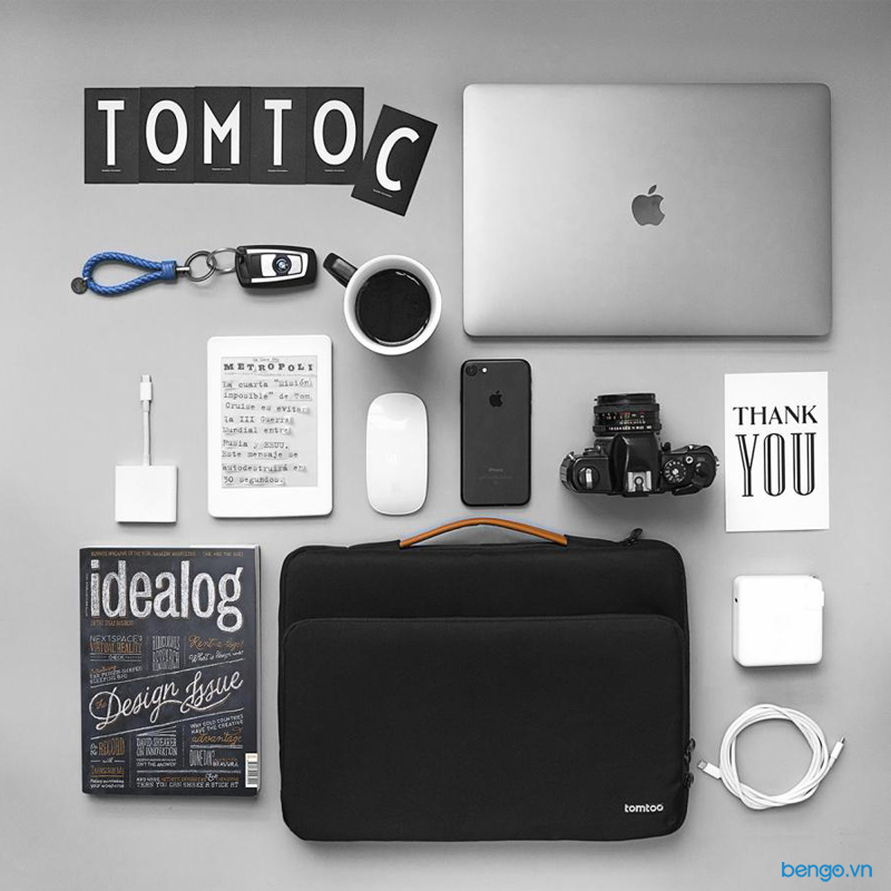 "Túi xách chống sốc MacBook Pro 13"" 2018 TOMTOC (USA) Briefcase"