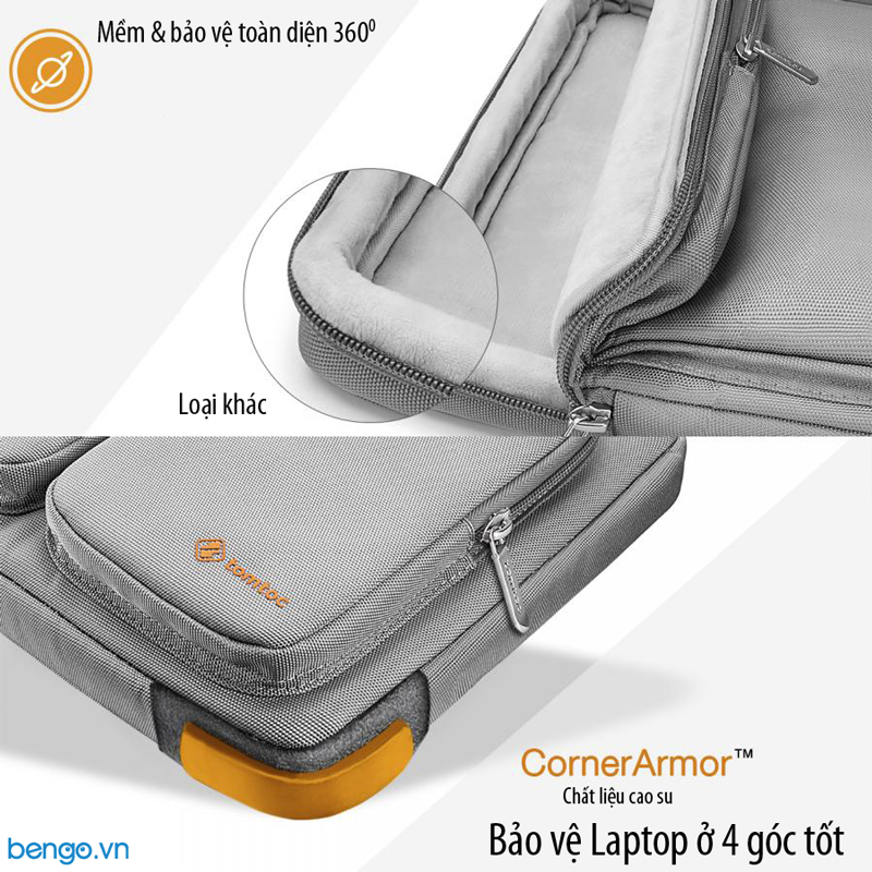 "Túi đeo chống sốc MacBook 15"" TOMTOC (USA) 360° Shoulder Bags - A42-E02"