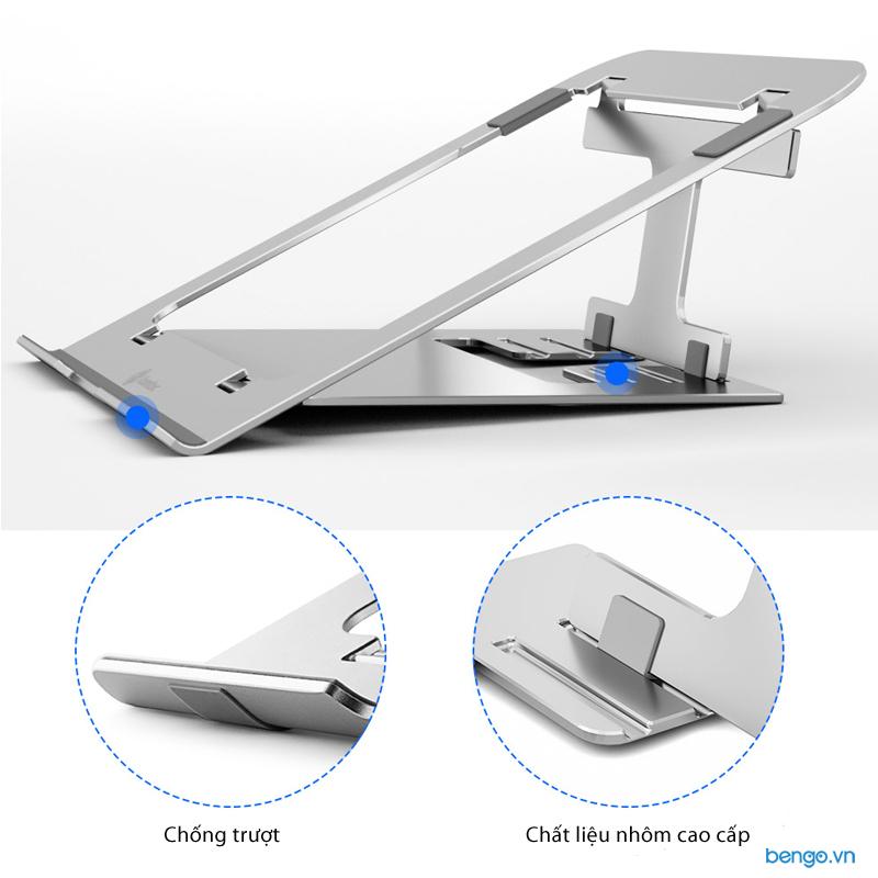 "Đế tản nhiệt TOMTOC Folding Aluminum cho iPad/Macbook/Tablet/Laptop 11""- 15.6"" - B4-002S"
