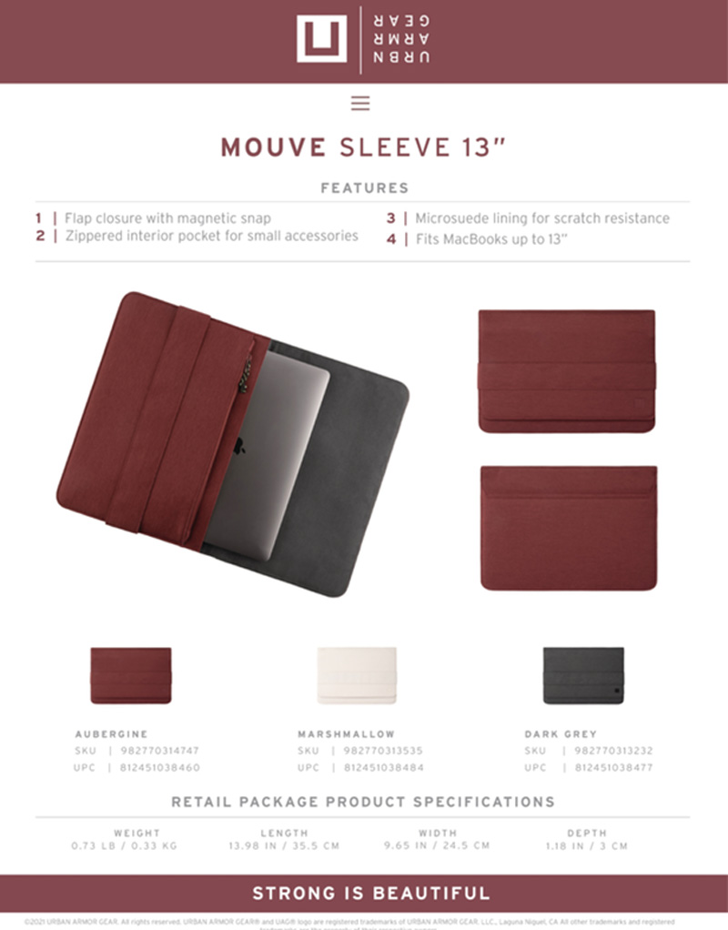[U] Túi UAG Sleeve cho Macbook/Tablet 13