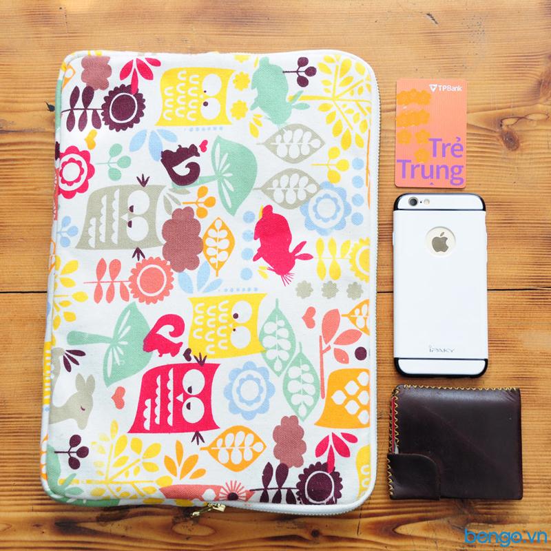 túi bảo vệ laptop siêu mỏng họa tiết khu vườn colore
