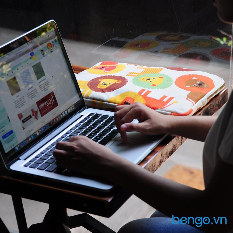 túi bảo vệ laptop siêu mỏng họa tiết sư tử colore