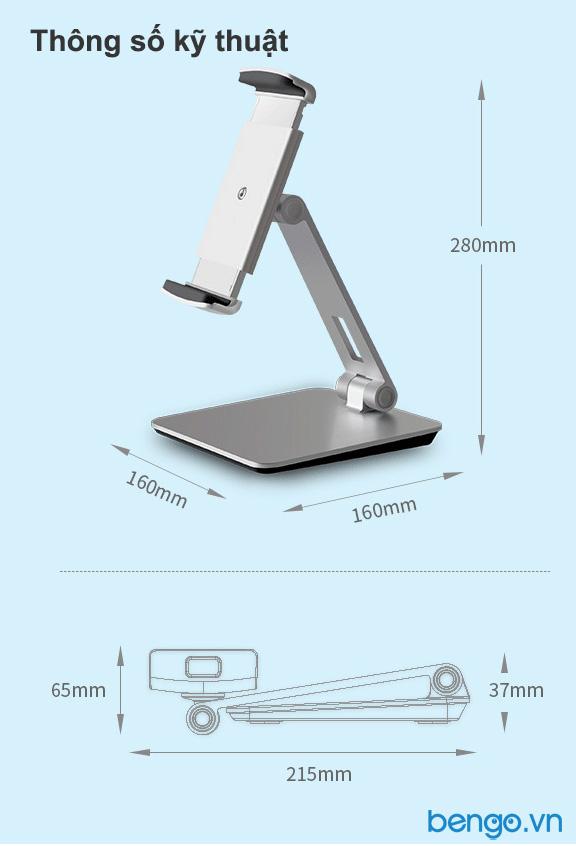 Giá kẹp điện thoại, máy tính bảng UP full size Universal - AP-7X